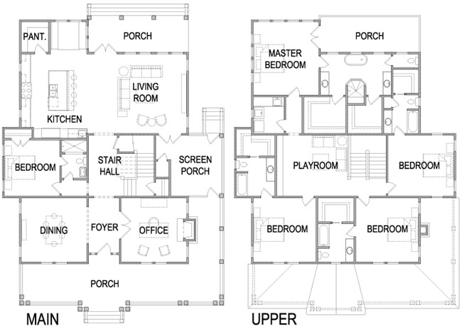 Four square house plans american four square sears for American house plans with photos